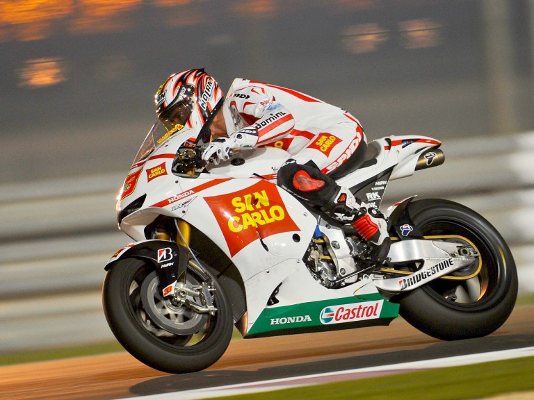 Marco Melandri at the Qatar test
