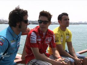 World Championship stars take Doha boat trip