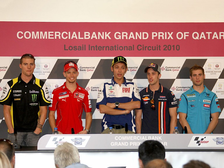 MotoGP Press Conference at the Commercialbank GP of Qatar