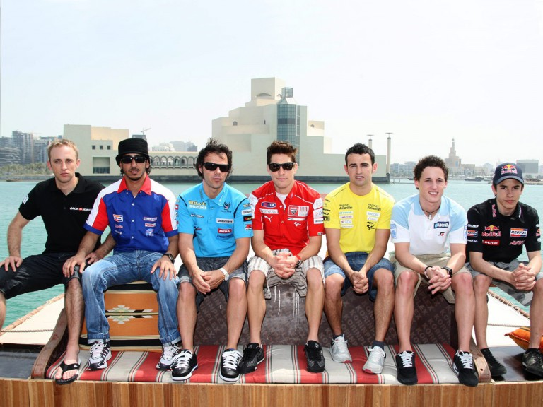MotoGP riders in Doha
