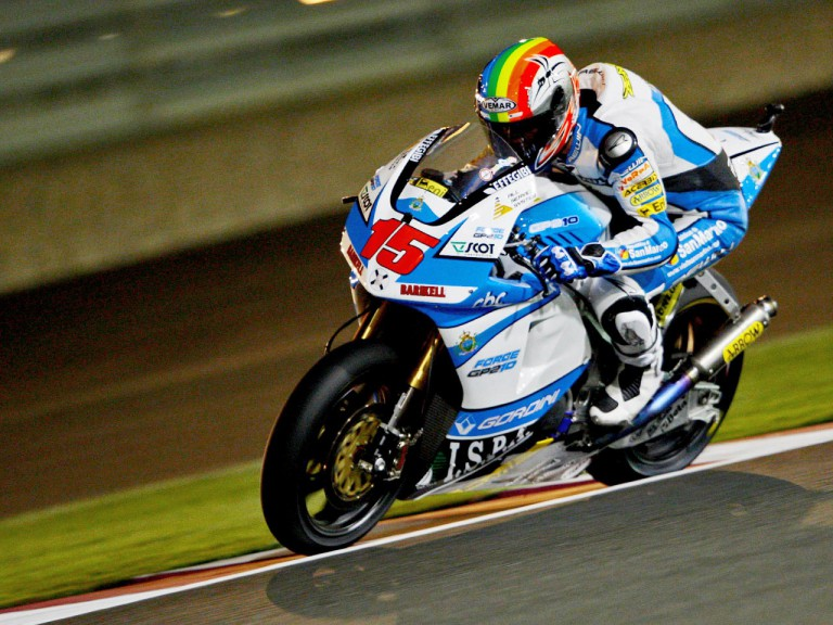 Alex de Angelis in action in Qatar