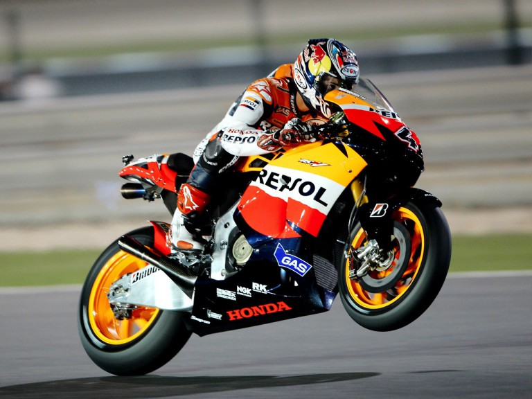 Andrea Dovizioso in action in Qatar