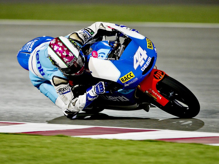 Pol Espargaró in action in Qatar