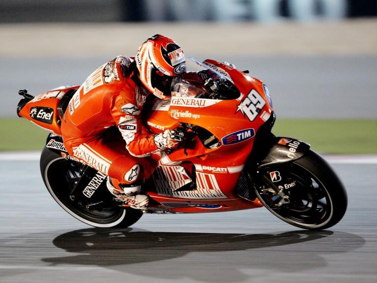 Nicky Hayden on track in Qatar