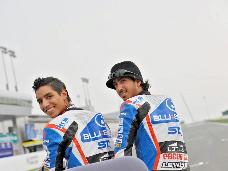 Blusens-STX Yonny Hernandez and Mashel Al Naimi in Qatar