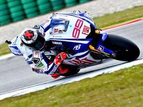 Jorge Lorenzo in action at Assen
