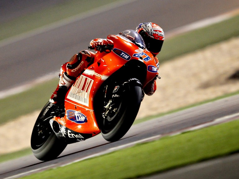 Casey Stoner in action in Qatar