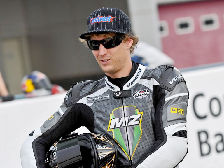 MZ Racing rider Anthony West at the Losail Circuit