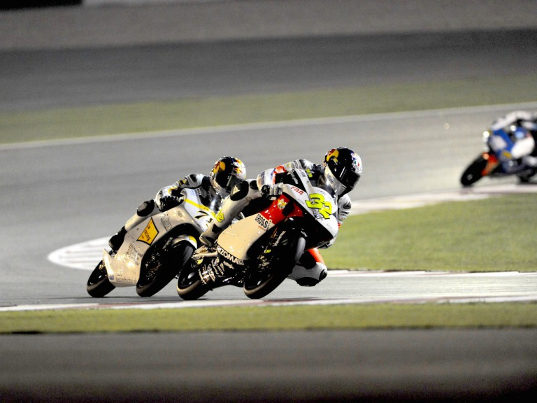 125cc Group in action at the Commercialbank G.P. of Qatar