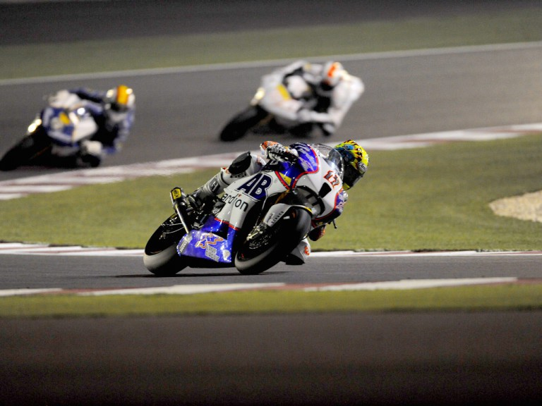 Karel Abraham in action in Qatar