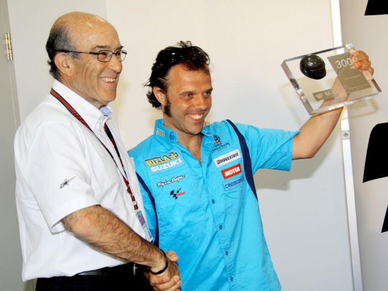 Loris Capirossi's 300th Grand Prix celebration