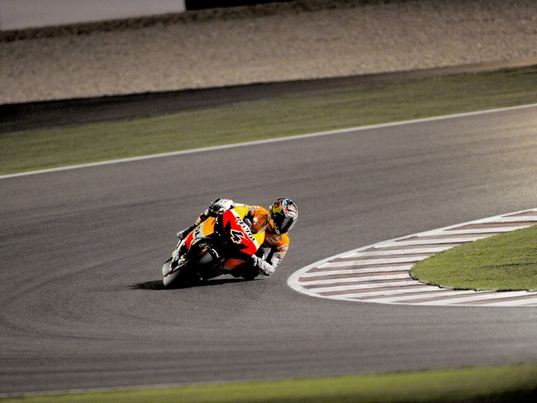 Andrea Dovizioso in action in Qatar