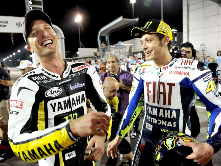 Edwards and Rossi at the Losail Circuit