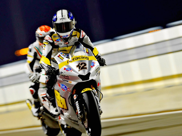 Thomas Luthi in the pit in Qatar