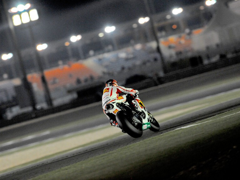 Marco Melandri on track in Qatar