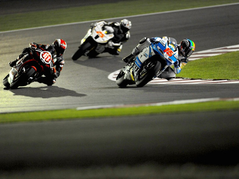 Moto2 Group in action in Qatar