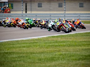 Moto2 group in action at Indianapolis