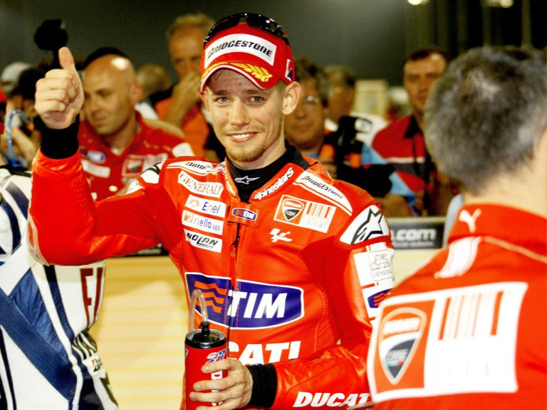 Casey Stoner after the QP at the Commercialbank G.P. of Qatar