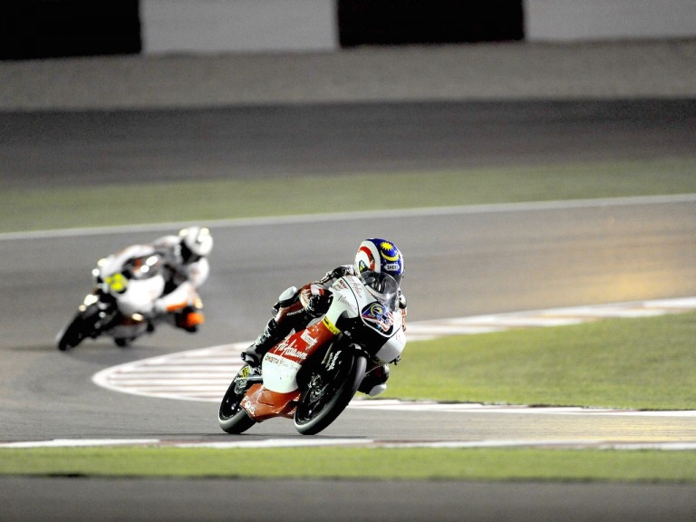 Khairuddin Zulfahmi in action in Qatar