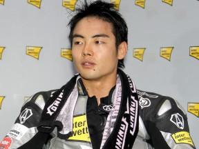Hiroshi Aoyama in the garage