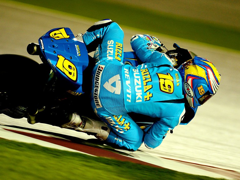 Alvaro Bautista in action in Qatar