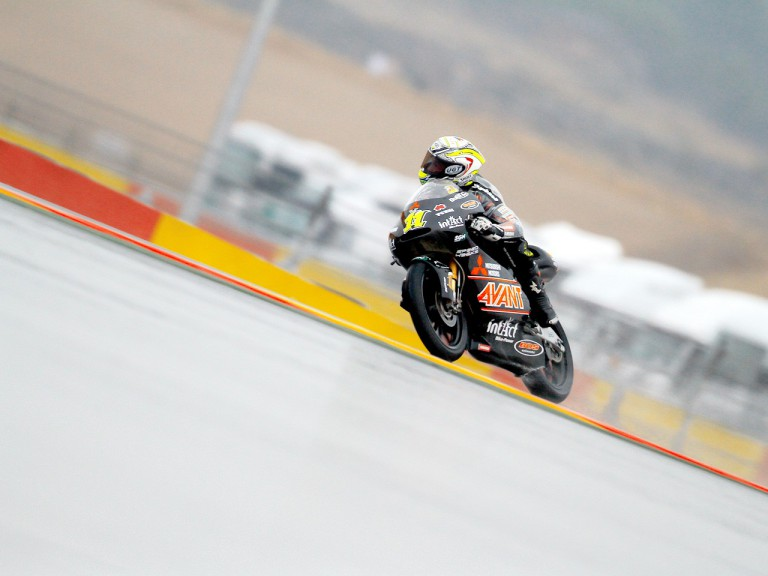 Sandro Cortese in action at Motorland Aragón