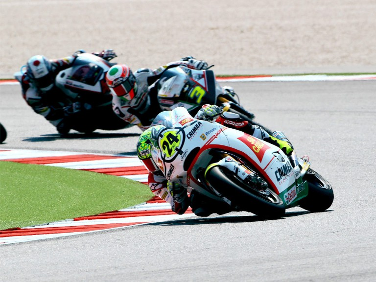 Toni Elías in action at Misano