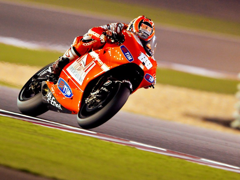 Nicky Hayden in action in Qatar