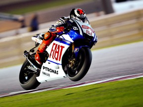 Jorge Lorenzo in action in Qatar