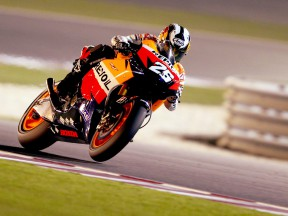 Dani Pedrosa in action in Qatar