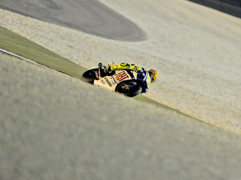 Valentino Rossi on track in Qatar