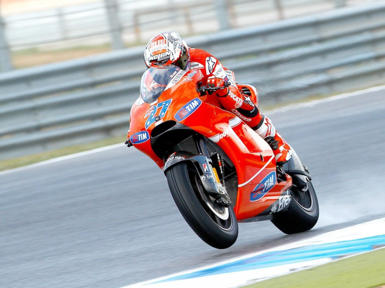 Casey Stoner in action at Estoril