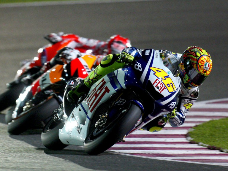 Rossi riding ahead of MotoGP group in Qatar