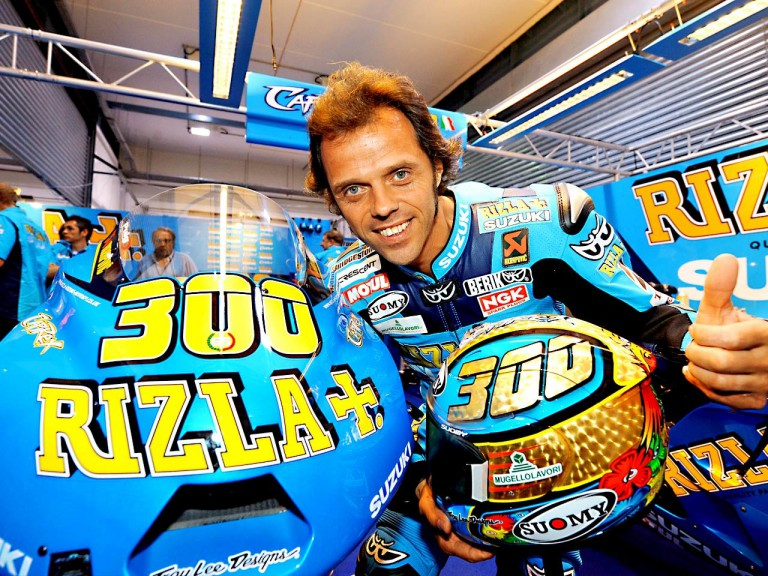 Loris Capirossi's 300th Grand Prix celebration