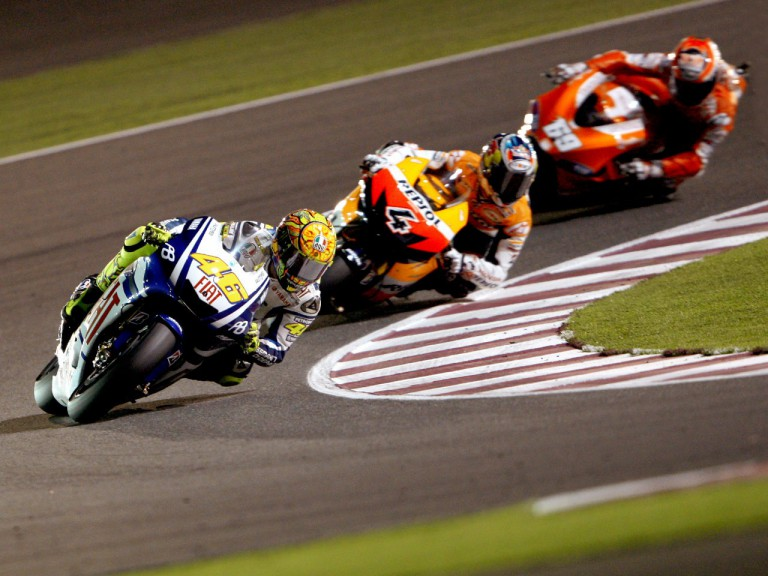 MotoGP action in Qatar