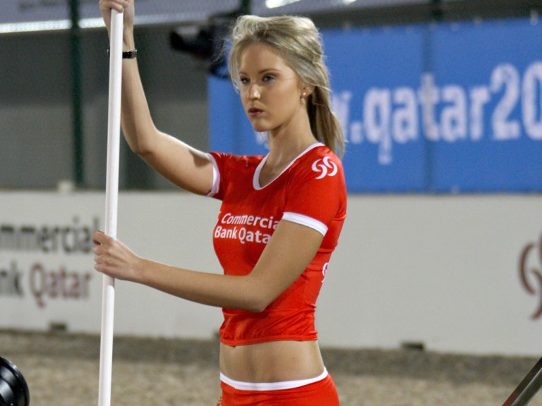 Paddock Girl at the Commercialbank G.P. of Qatar