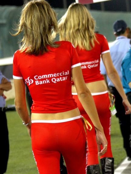Paddock Girl at the Commercialbank Gran Prix of Qatar