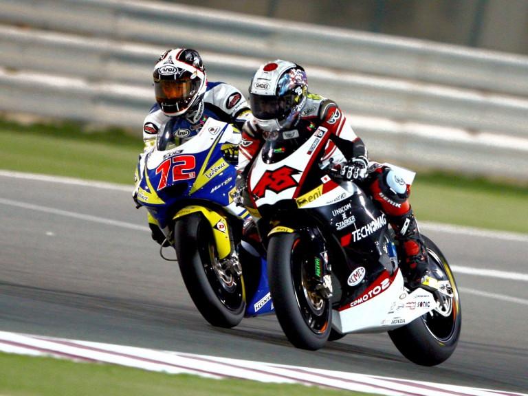 Yuki Takahashi and Shoya Tomizawa in action in Qatar