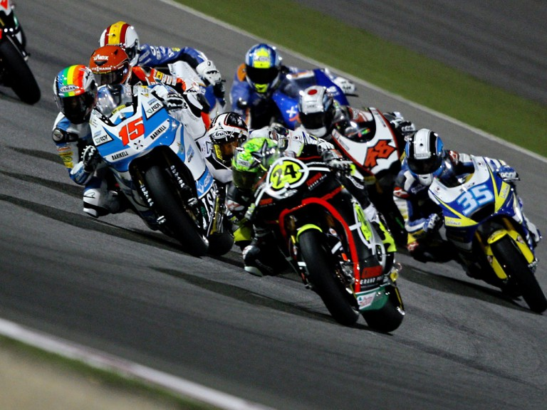 Moto2 Action in Qatar