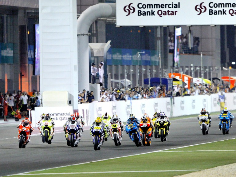 MotoGP action at the Commercialbank G.P. of Qatar
