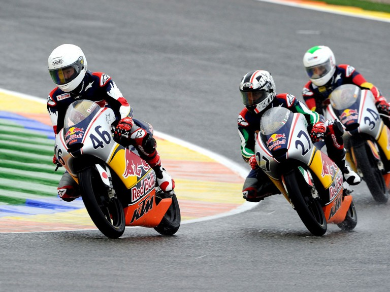 Red Bull Rookies action at the Valencia test