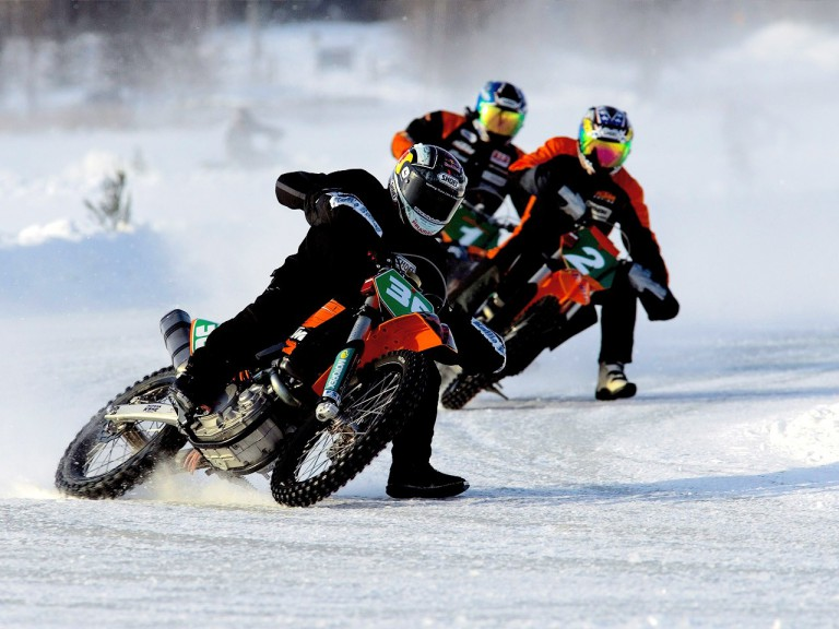 Mika Kallio on ice racing