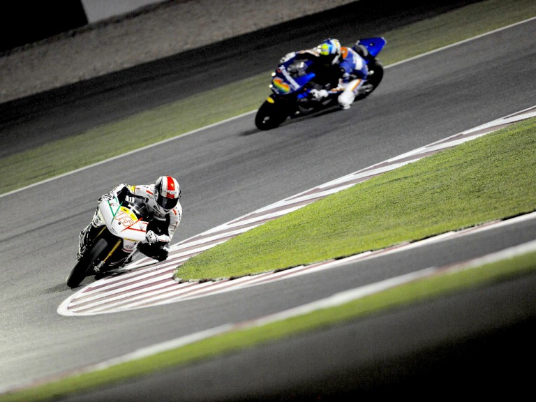 Mattia Pasini in action in Qatar
