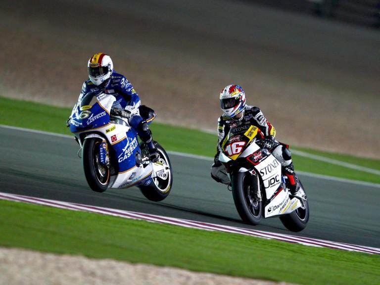 Alex Debon in action in Qatar