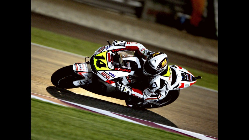 Randy de Puniet ina ction in Qatar