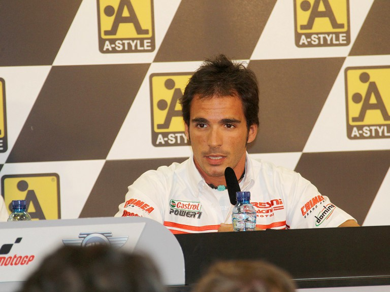 Toni Elias at the Gran Premio A-Style de Aragón press conference