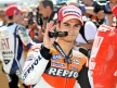 Dani Pedrosa at the parc fermé after QP in Misano