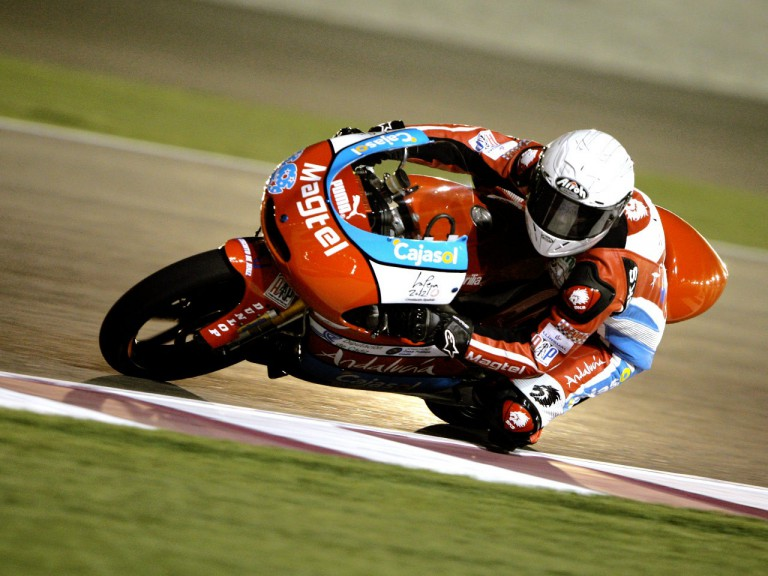 Danny Webb in action in Qatar
