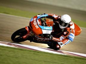 Danny Webb in action in Qatar