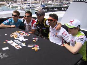 MotoGP stars enjoy game of bwin poker